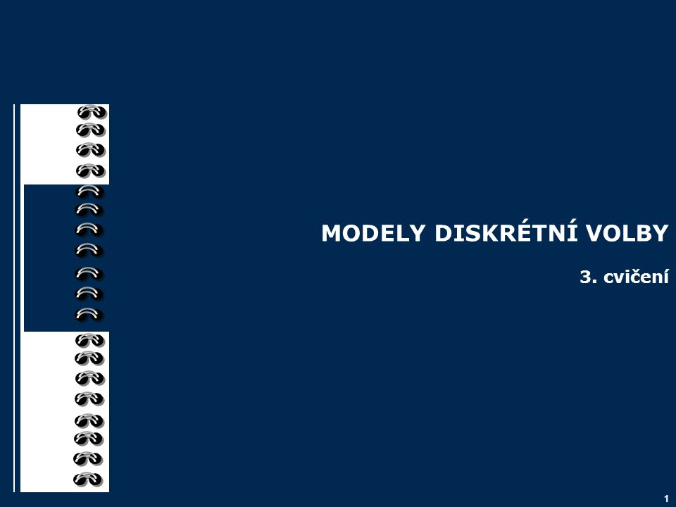 2 Osnova 1.Podstata modelů diskrétní volby 2.Modely binární volby LPM Logitový Probitový 3.Aplikace Ukázka – cílení marketingových kampaní