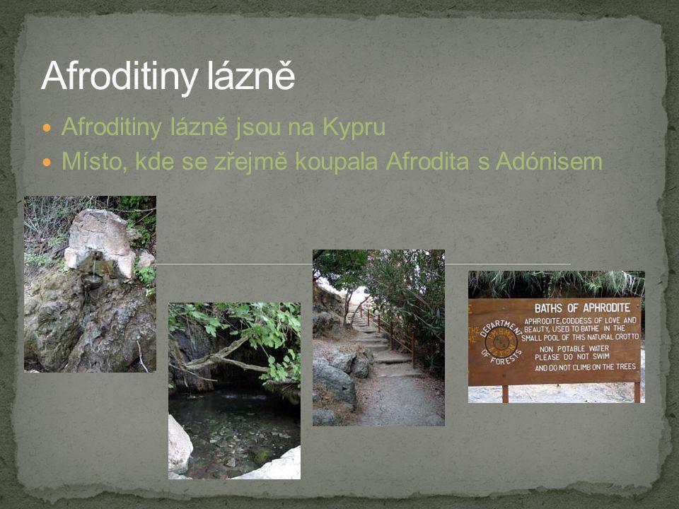 Afroditiny lázně jsou na Kypru Místo, kde se zřejmě koupala Afrodita s Adónisem