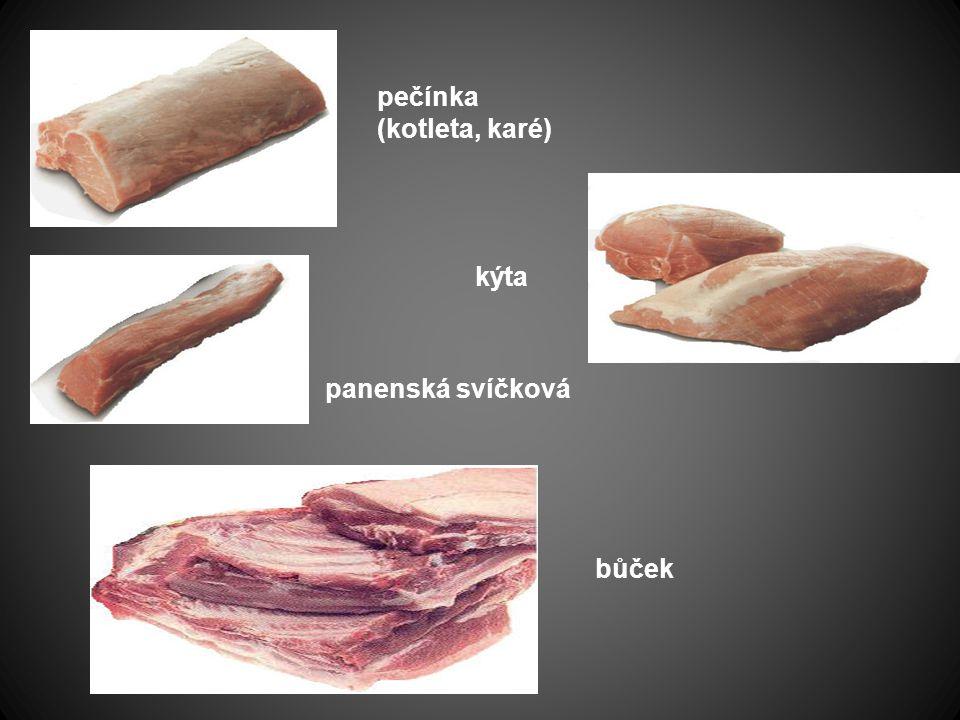 plec krkovička Všechny druhy vepřového mas se mohou a také se velmi často udí.
