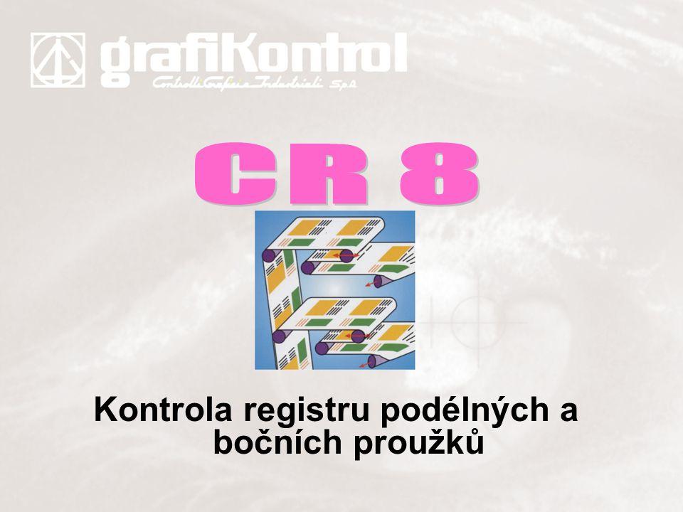 Kontrola registru podélných a bočních proužků