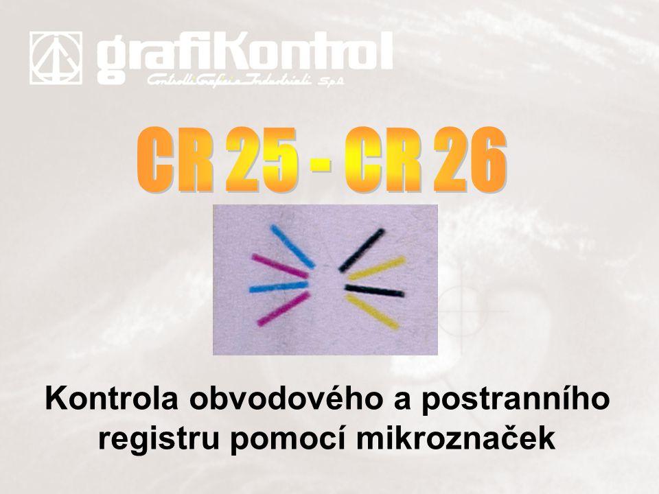 Kontrola obvodového a postranního registru pomocí mikroznaček