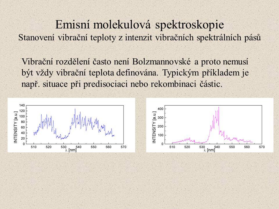 Vibrační rozdělení často není Bolzmannovské a proto nemusí být vždy vibrační teplota definována. Typickým příkladem je např. situace při predisociaci