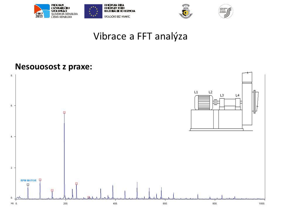 Vibrace a FFT analýza Nesouosost z praxe: