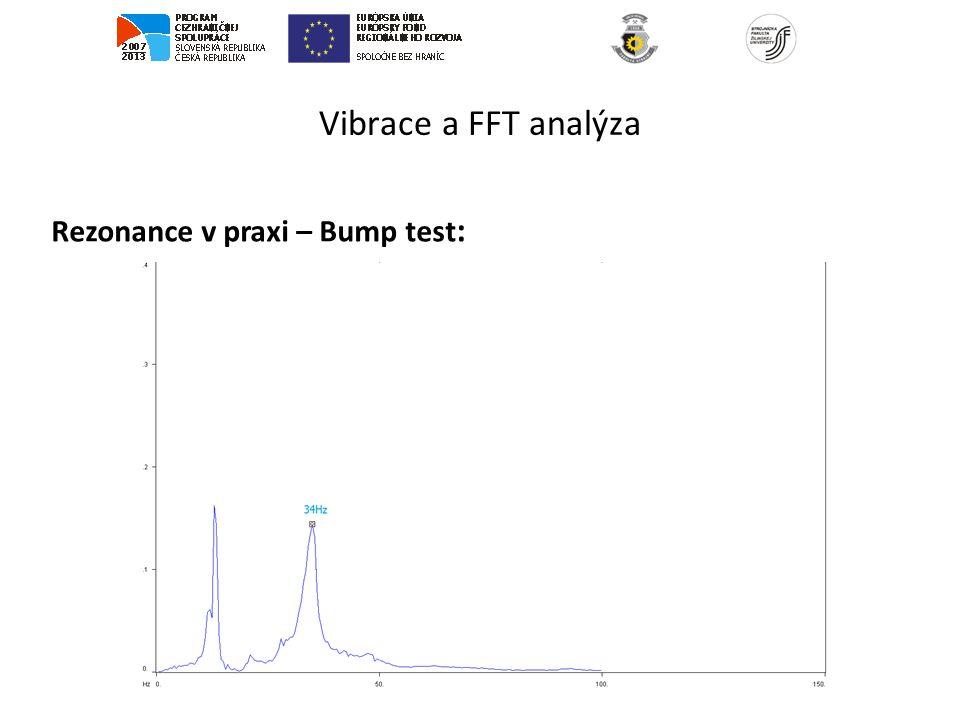 Vibrace a FFT analýza Rezonance v praxi – Bump test :