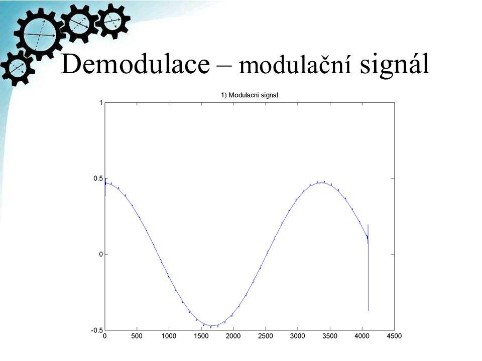 Demodulace – modulační signál