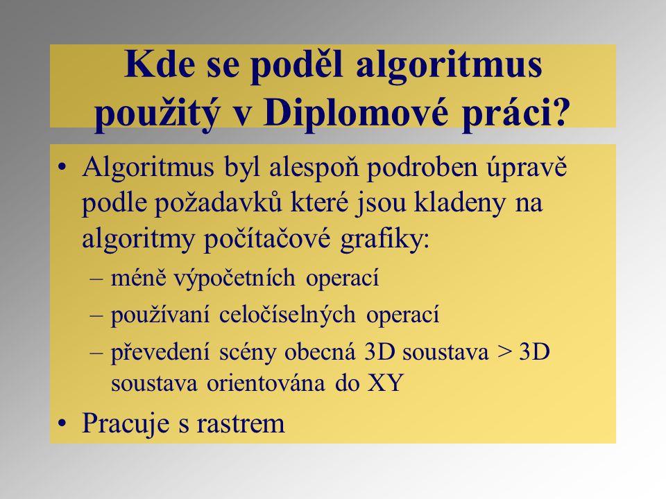 Kde se poděl algoritmus použitý v Diplomové práci.