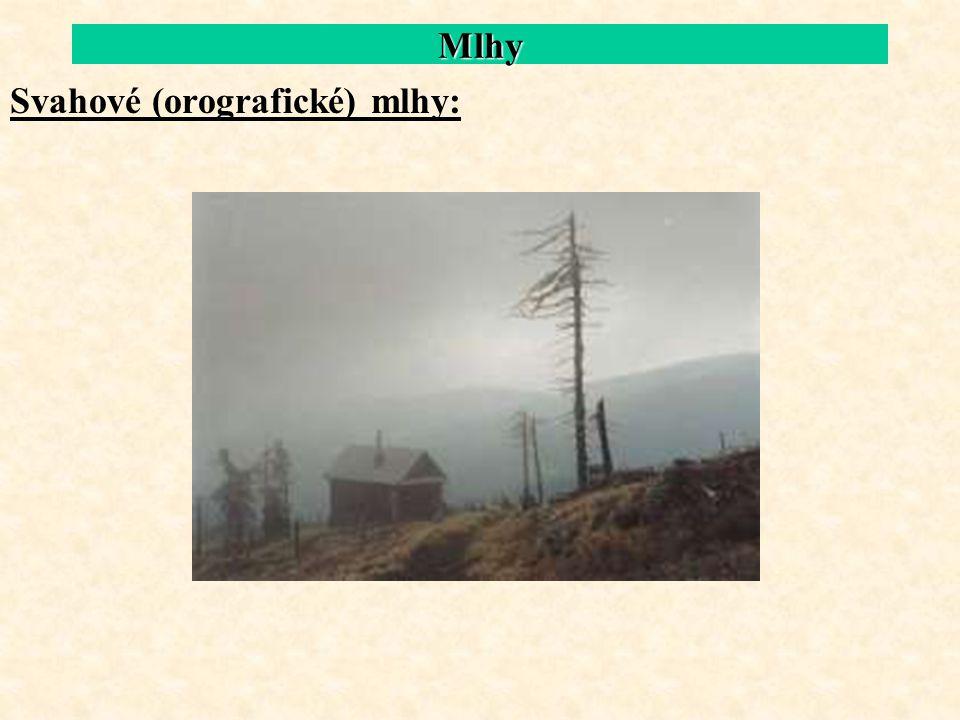 Mlhy Svahové (orografické) mlhy: