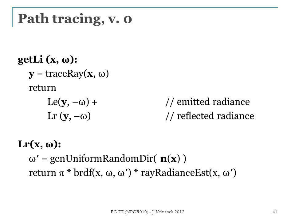 Path tracing, v.