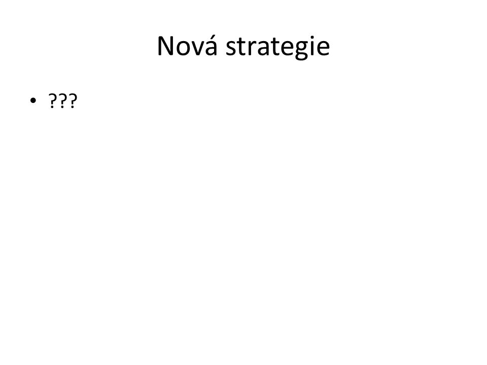 Nová strategie ???