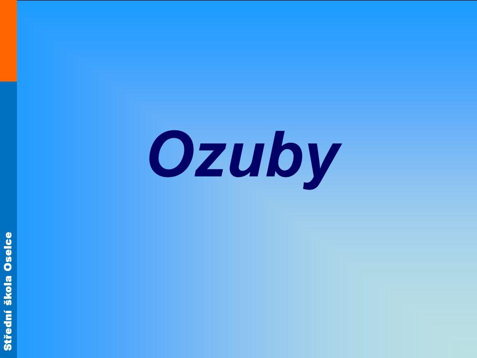 Střední škola Oselce Ozuby (zařazení) Jedná se o korpusový spoj rohový nebo středový (přímé ozuby).