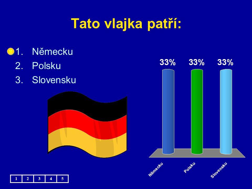 Tato vlajka patří: 1.Německu 2.Polsku 3.Slovensku 12345