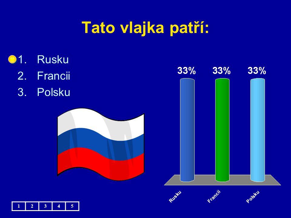 Tato vlajka patří: 1.Česku 2.Česku 3.Česku