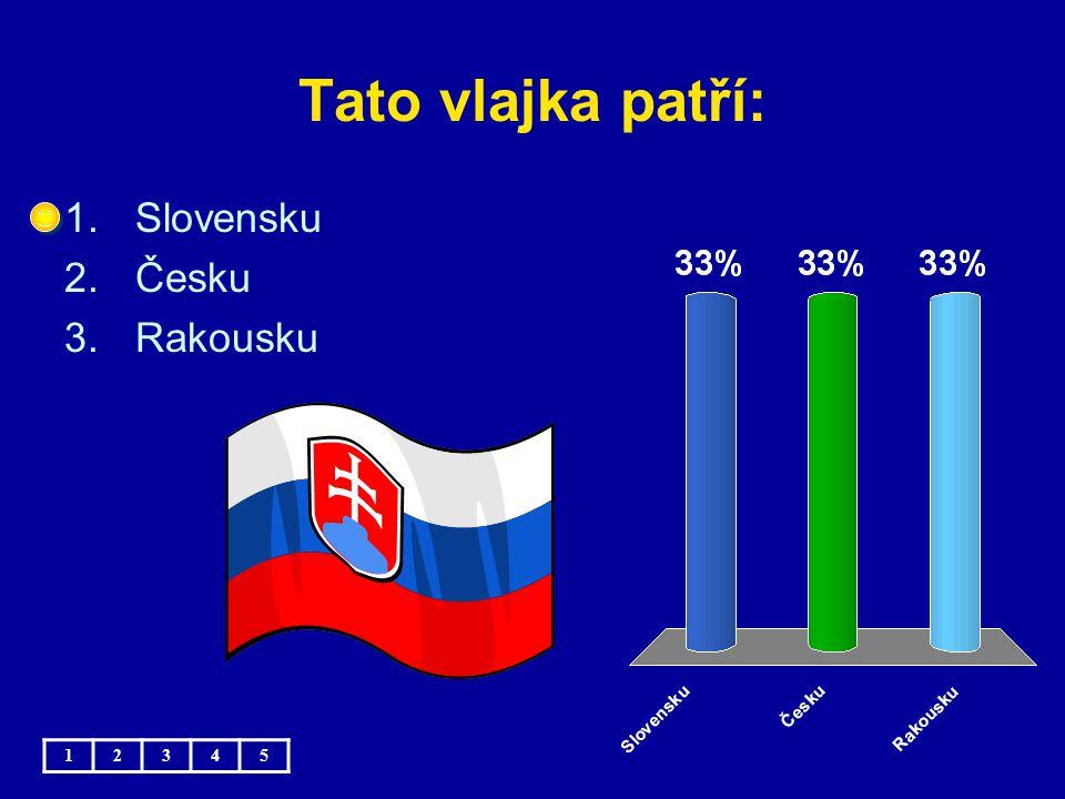 Tato vlajka patří: 1.Slovensku 2.Česku 3.Rakousku 12345