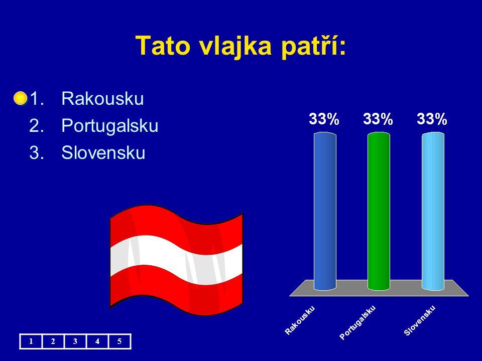 Tato vlajka patří: 1.Rumunsku 2.Bulharsku 3.Maďarsku 12345