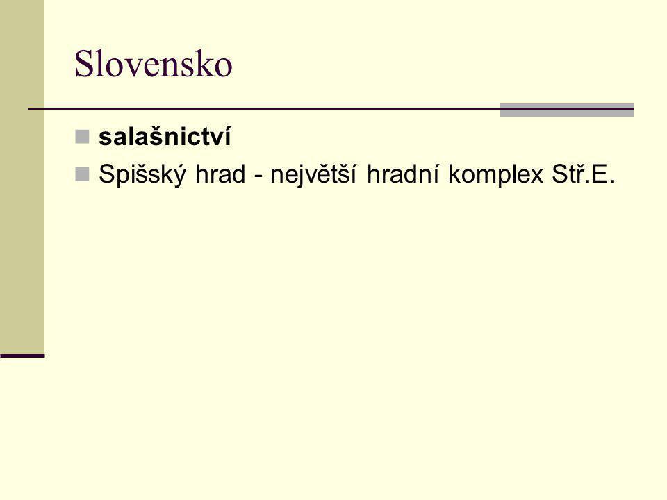 Slovensko salašnictví Spišský hrad - největší hradní komplex Stř.E.