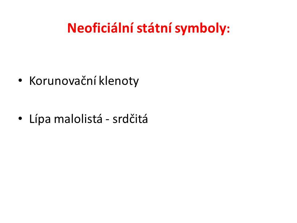 Neoficiální státní symboly : Korunovační klenoty Lípa malolistá - srdčitá