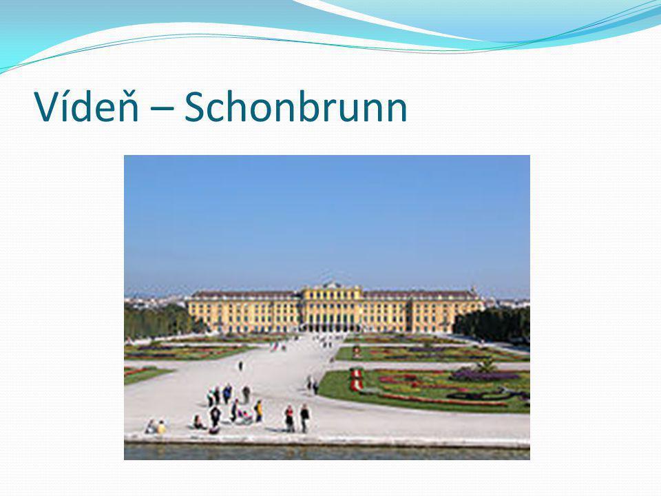 Vídeň – Schonbrunn