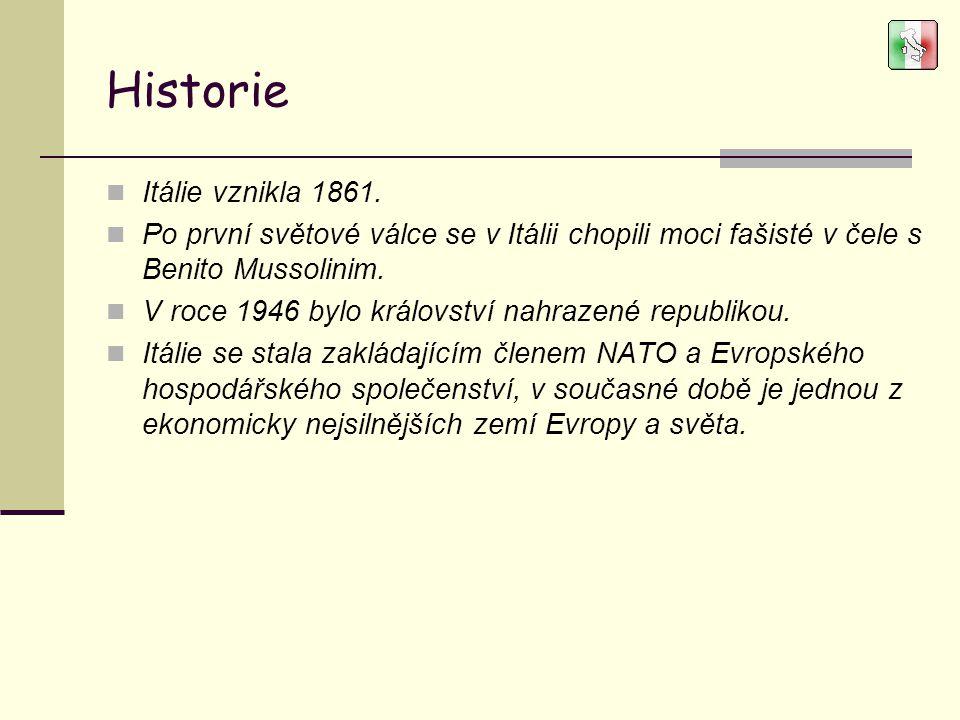 Historie Itálie vznikla 1861.