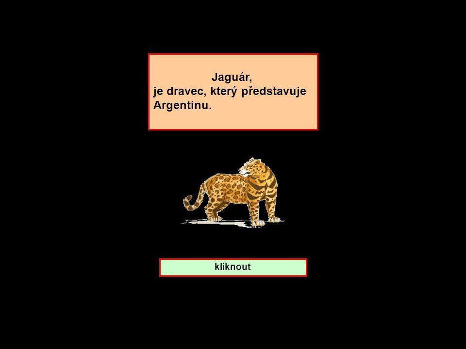 Které zemi patří Jaguár ? Argentina Peru Kolumbie