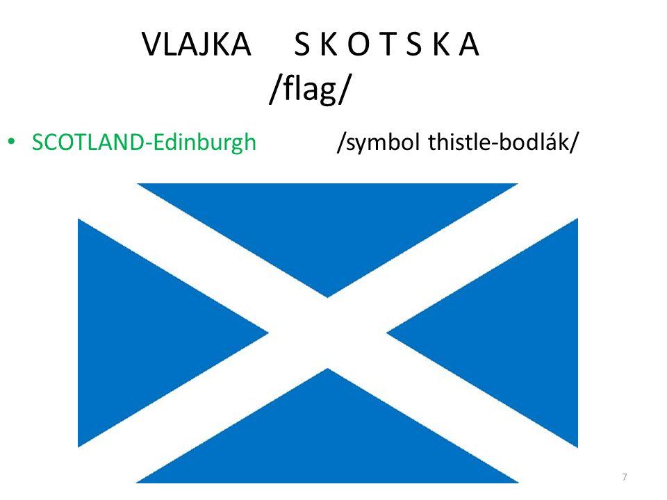 7 VLAJKA S K O T S K A /flag/ SCOTLAND-Edinburgh /symbol thistle-bodlák/