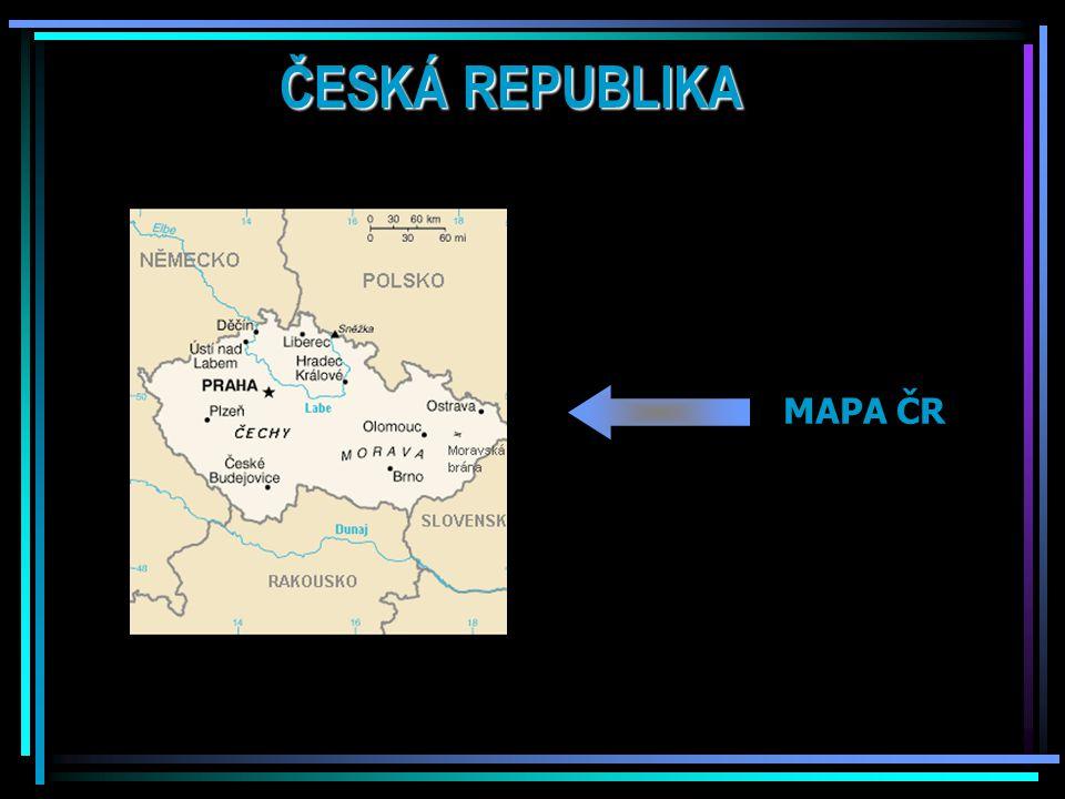 ČESKÁ REPUBLIKA MAPA ČR