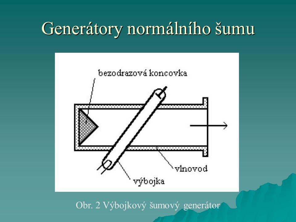 Generátory normálního šumu  Dosud připomenuté šumové generátory jsou použitelné jen na vyšších kmitočtech.