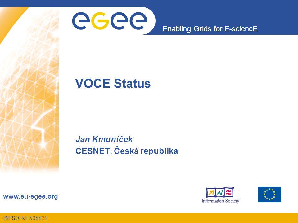 Enabling Grids for E-sciencE INFSO-RI-508833 Projekt EGEE je financován Evropskou Unií (smlouva číslo IST-2003-508833) 12 Statistiky využití Jak byly CPU využívány úlohami.