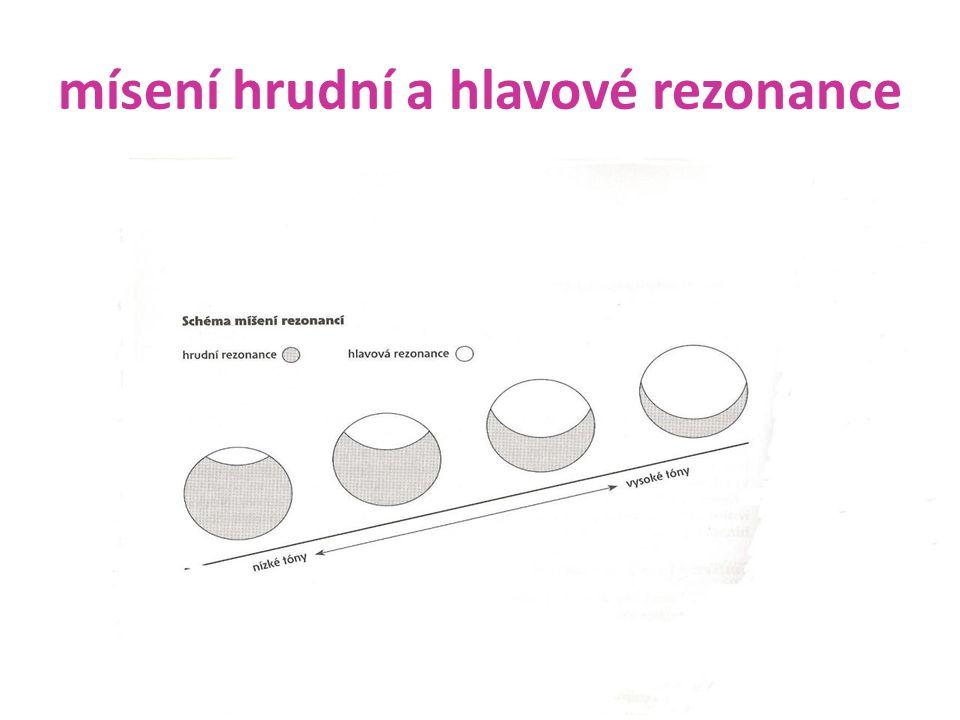 mísení hrudní a hlavové rezonance