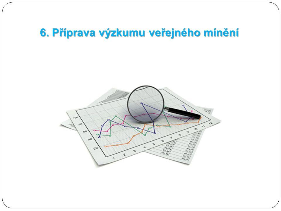 6. Příprava výzkumu veřejného mínění