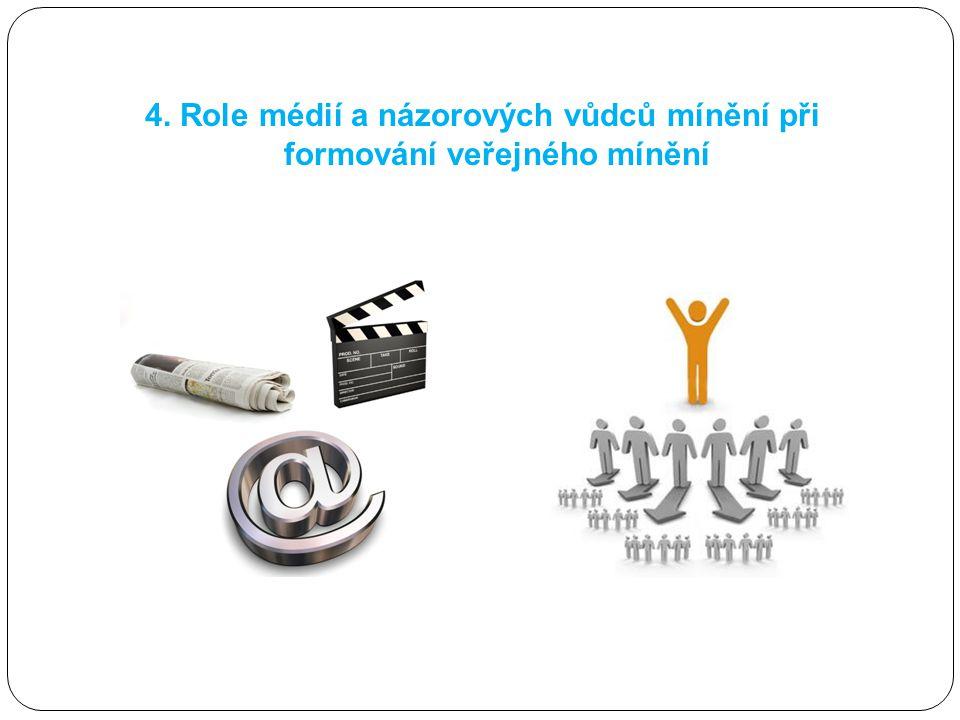 4. Role médií a názorových vůdců mínění při formování veřejného mínění