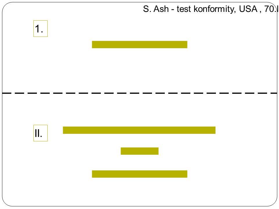 1.II. S. Ash - test konformity, USA, 70.l.