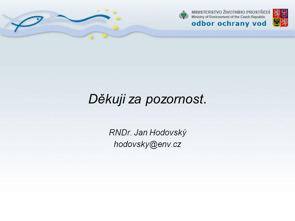 Děkuji za pozornost. RNDr. Jan Hodovský hodovsky@env.cz