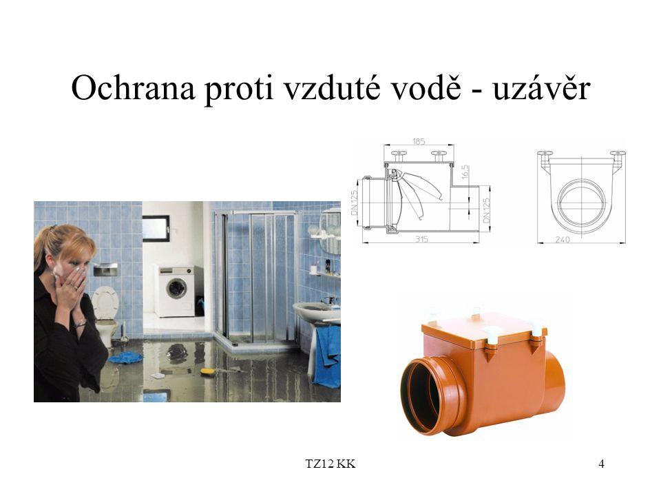 TZ12 KK4 Ochrana proti vzduté vodě - uzávěr