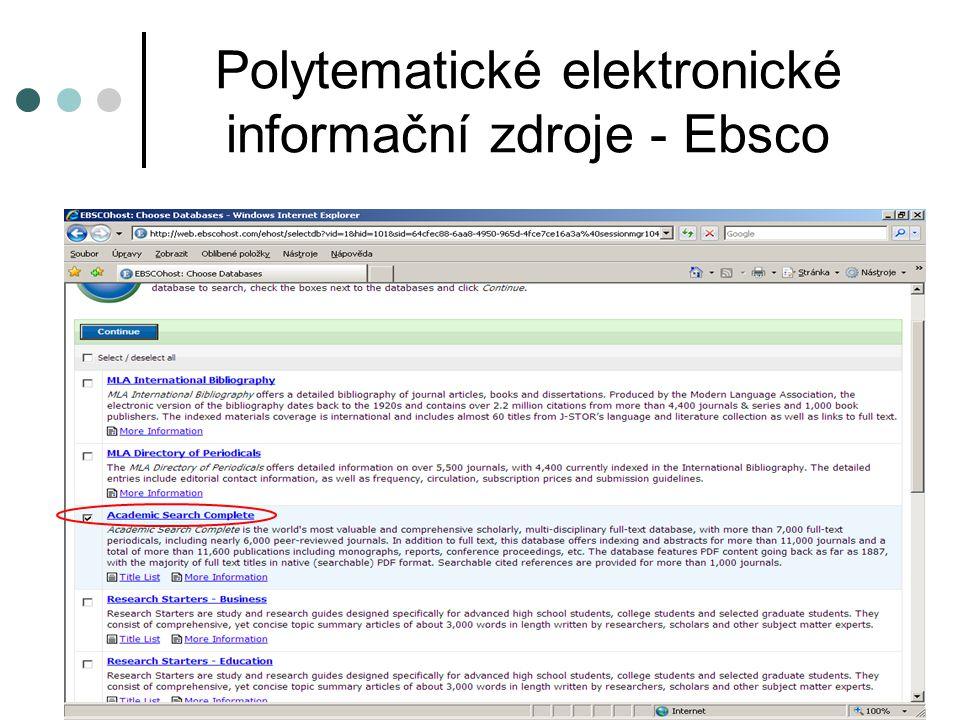 Elektronické informační zdroje pro ekonomii Firemní monitor - služba o aktivitě firem v ČR a SR Přístup z PC ve studovnách: http://www.albertina.czhttp://www.albertina.cz Heslo zadá služba ve studovně Licence 1 SU