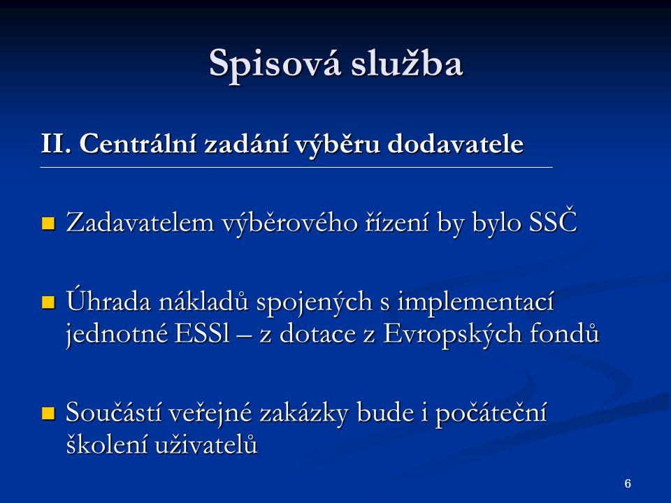 6 Spisová služba II.