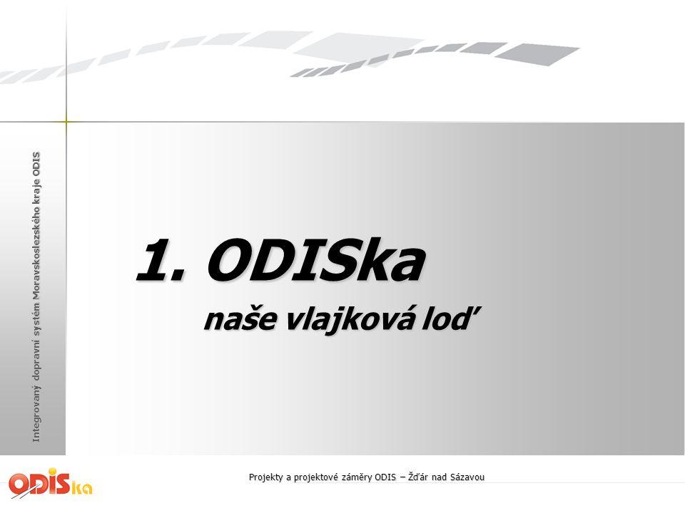 Integrovaný dopravní systém Moravskoslezského kraje ODIS 1. ODISka naše vlajková loď naše vlajková loď Projekty a projektové záměry ODIS – Žďár nad Sá