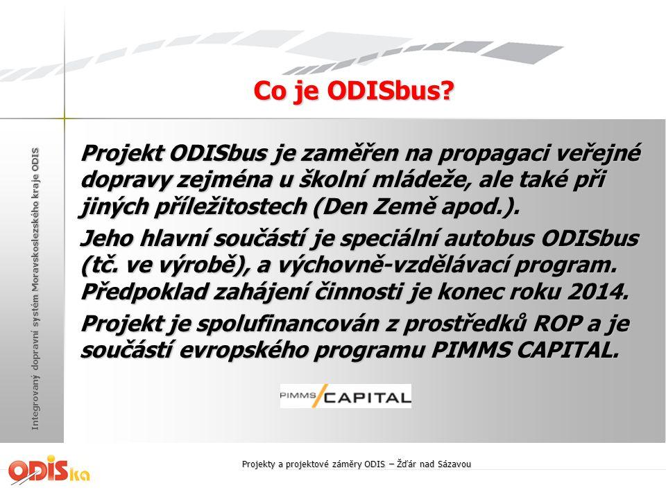 Integrovaný dopravní systém Moravskoslezského kraje ODIS Co je ODISbus? Projekt ODISbus je zaměřen na propagaci veřejné dopravy zejména u školní mláde