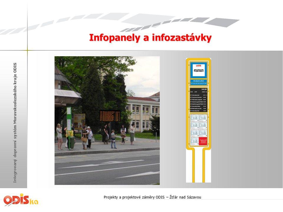 Integrovaný dopravní systém Moravskoslezského kraje ODIS Infopanely a infozastávky Projekty a projektové záměry ODIS – Žďár nad Sázavou