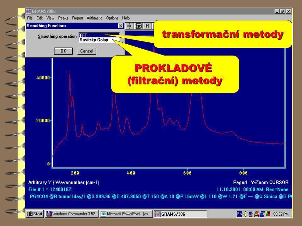 PROKLADOVÉ (filtrační) metody transformační metody