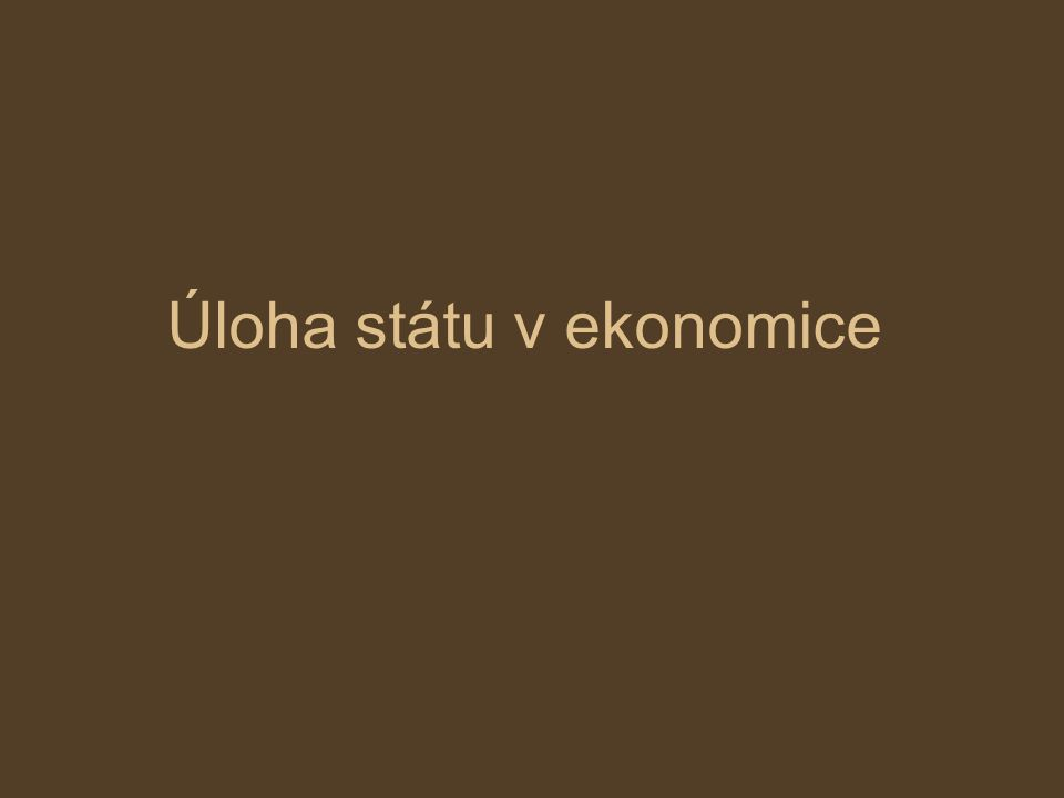 Vytváření právního rámce – vláda určuje pravidla ekonomické hry, které se zúčastňují všechny subjekty.