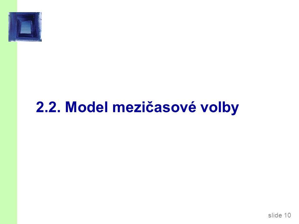 slide 10 2.2. Model mezičasové volby