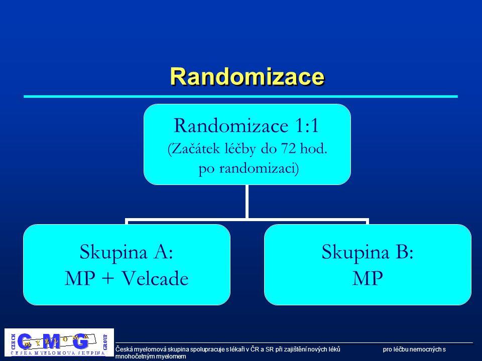 Česká myelomová skupina spolupracuje s lékaři v ČR a SR při zajištění nových léků pro léčbu nemocných s mnohočetným myelomem Randomizace