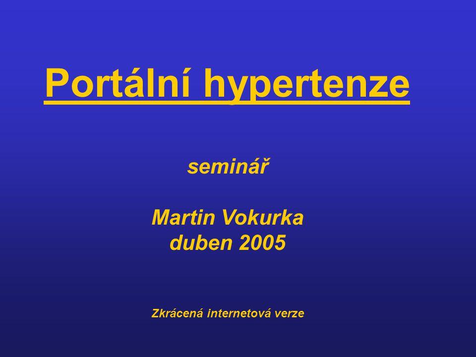 Portální hypertenze seminář Martin Vokurka duben 2005 Zkrácená internetová verze