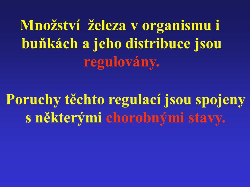 Množství železa v organismu i buňkách a jeho distribuce jsou regulovány.