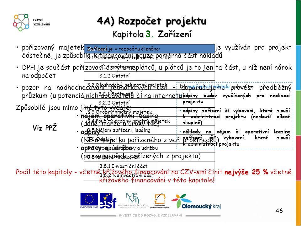 46 pořizovaný majetek musí být využíván pro projekt, pokud je využíván pro projekt částečně, je způsobilá k financování pouze poměrná část nákladů DPH