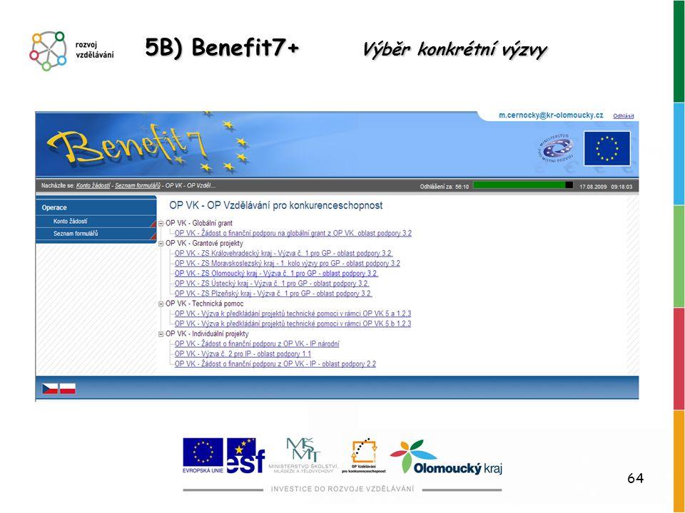 64 5B) Benefit7+ Výběr konkrétní výzvy