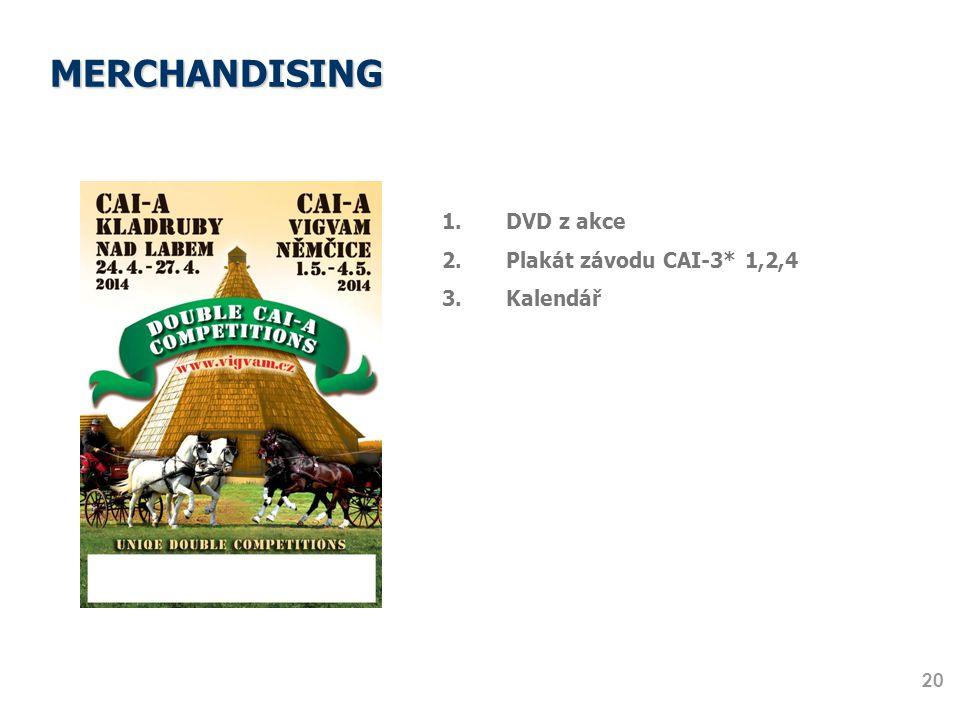 MERCHANDISING 20 1.DVD z akce 2.Plakát závodu CAI-3* 1,2,4 3.Kalendář