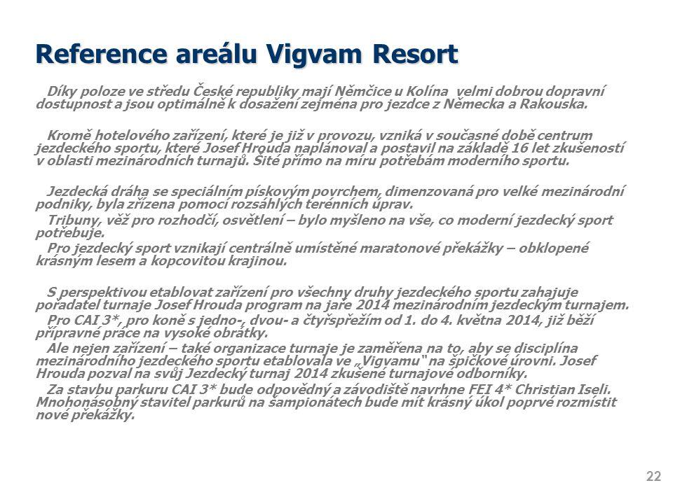 Reference areálu Vigvam Resort Díky poloze ve středu České republiky mají Němčice u Kolína velmi dobrou dopravní dostupnost a jsou optimálně k dosažen