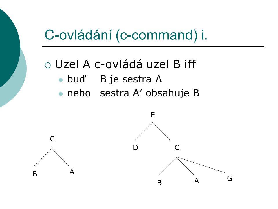 C-ovládání (c-command) i.