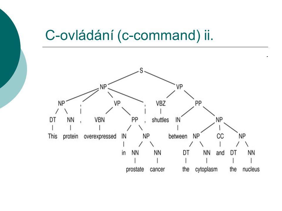 C-ovládání (c-command) ii.